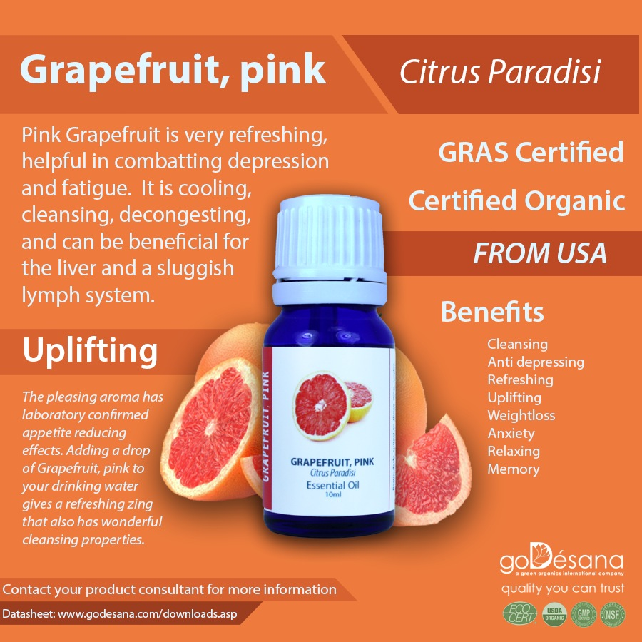 Grapefruit, pink Essential Oil Social Media Image