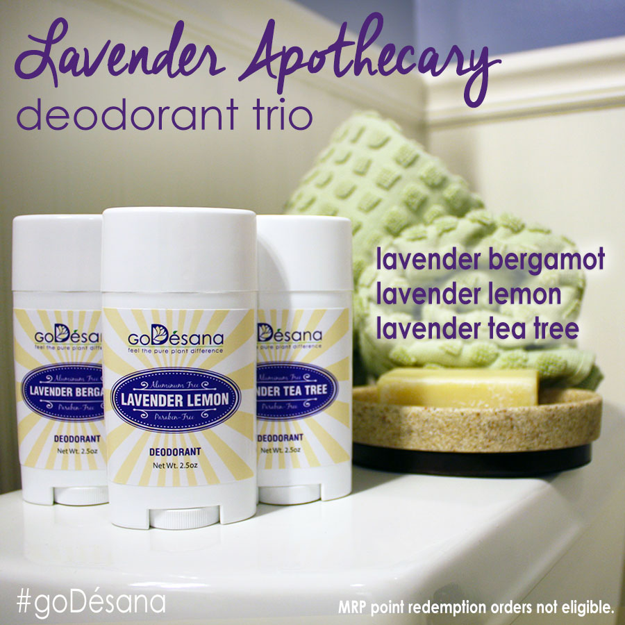 Lavender Apothecary Deodorant Trio Daily Deal