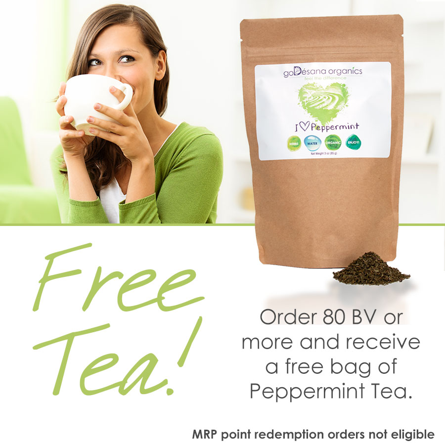 Free Peppermint Tea Daily Deal