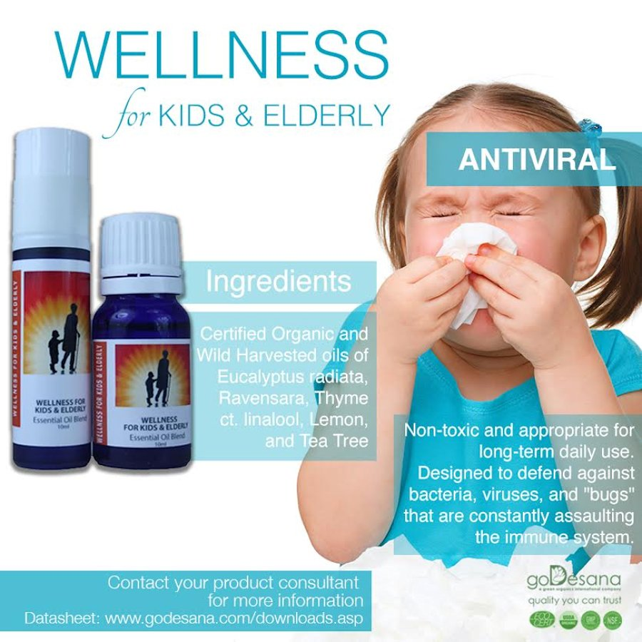 Wellness For Kids & Elderly Essential Oil Blend Social Media Image